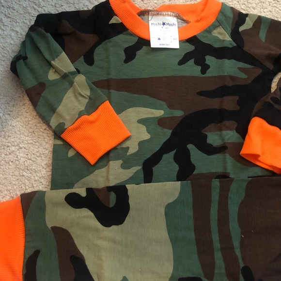cat & cow Other - Camo pajamas camouflage PJS orange long sleeve new